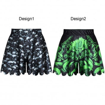 Mysterious Print Loose Casual Culottes