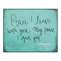 Jozie B My Peace I Give You Wall Sign | zulily