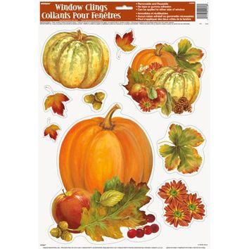 Pumpkin Harvest Fall Window Cling Sheet, 1ct - Walmart.com