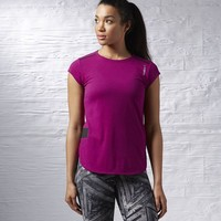 Reebok ONE Series Babydoll Tee - Fierce Fuchsia | Reebok US