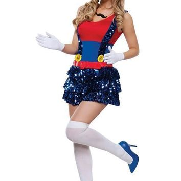 Shimmery Colorful Super Mario Costume Halloween Stuff