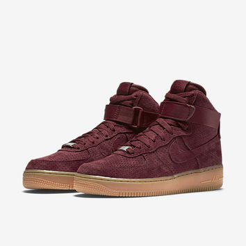 The Nike Air Force 1 High Suede Women's Shoe.