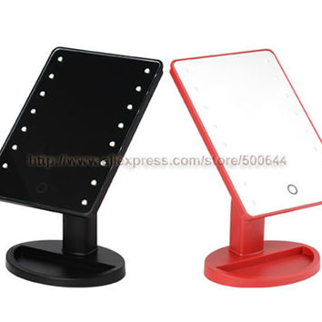 Professional Smart Touch Sensor 16 LED Makeup Mirror Table Single Side Cosmetic Mirror & Free Shipping