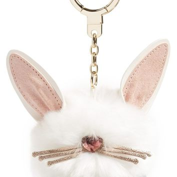 kate spade new york bunny pouf faux fur bag charm | Nordstrom