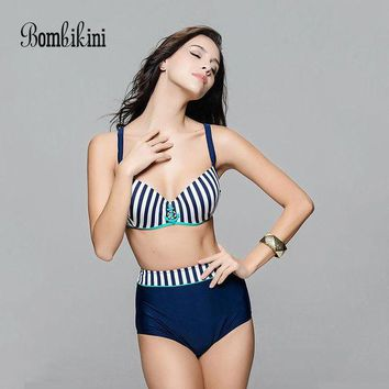 DCCKL6D Push Up Women Swimsuits Bathing Suit Sexy Brazilian Bikini Bottoms Swimwear High Waist 1061