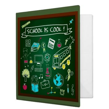 School Is Cool 3 Ring Binder