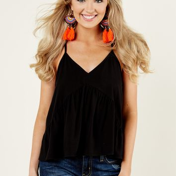 Everly Too Perfect Black Top