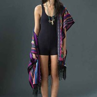 Silence + Noise Bike Short Romper- Black