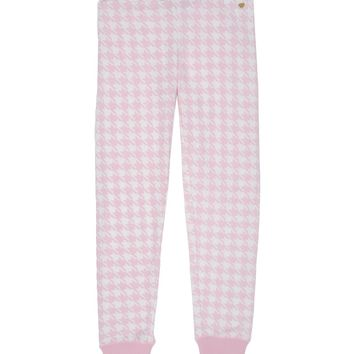 Peony/White Pixie Houndstooth Girls Pixie Houndstooth Sweat Pant by Juicy Couture,