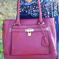 Now You Know Purse: Maroon - One