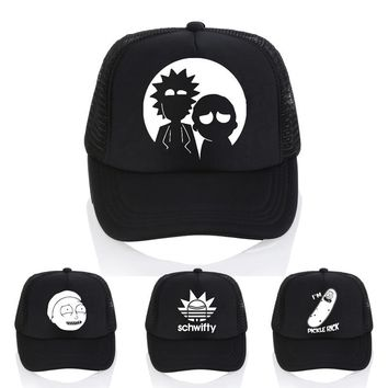 Trendy Winter Jacket The New US Animation Rick Caps Dad Hat Rick and Morty Hats Adjustable Baseball Cap Fashion casual letter schwifty cap AT_92_12