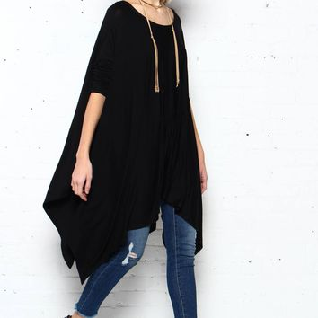 Step Off Poncho - Black