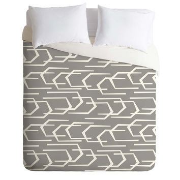 Heather Dutton Going Places Slate Duvet Cover