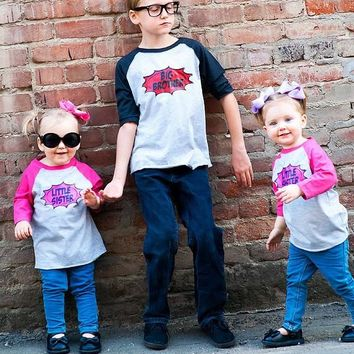 Big Brother & Little Sister Shirts, Brother & Sister Matching Shirts, Gender Reveal Shirts