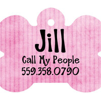 Dog Tag, Custom Dog Tag, Pet ID, Dog ID, Pet Tag, Pink Dog Tag, Personalized Pet, Cat Tag, Glitter Pet ID, Dog Bone, Cutom Pet Tag