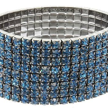 Teal Stretch Metal Bracelet
