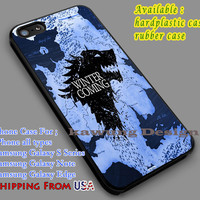 Game of Thrones Winter is Coming iPhone 6s 6 6s+ 5c 5s Cases Samsung Galaxy s5 s6 Edge+ NOTE 5 4 3 #movie #gameofthrones dl7