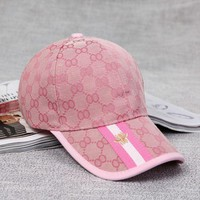 GUCCI Women Men Trending Print Embroidery Sports Sun Hat Baseball Cap Hat G