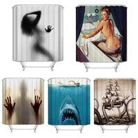 3D Polyester Digital Shower Curtain Bloody Bathroom Shower Curtian 180x180cm