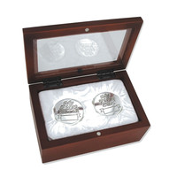 Babys My First Curl First Tooth Silver Keepsake Box Set - Engravable Gift Item