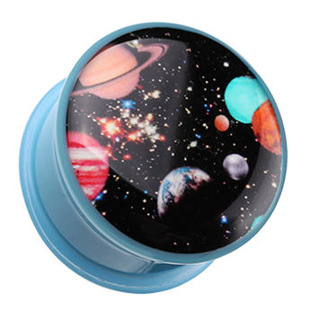 Galaxy Daze Single Flared Ear Gauge Plug