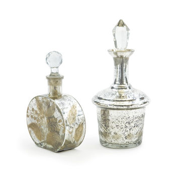 Go Home Set of Two Vintage Perfume Bottles - 15790