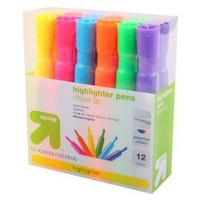 up&up™ 12-ct. Highlighters - Assorted Colors