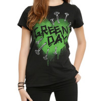 Green Day Heart Nails Girls T-Shirt