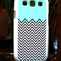 Samsung Galaxy S3 SIII Mint Green Chevron  Case Samsung Galaxy S3