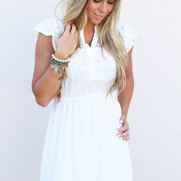 Sweet Caroline Dress {Off White}