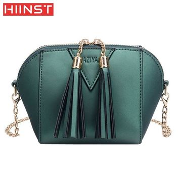2017  Women Fashion Handbag Tassel Shoulder Bag Small Tote Ladies Purse  Comfystyle Dropship 6.29