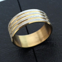 1 piece Men's High Polished Signet Stainless Steel ring Wedding Bridal  Ring for Women Men's Jewelry Never Fade nj32