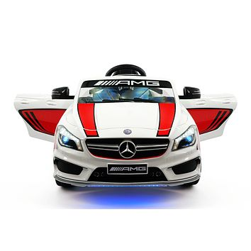 Mercedes CLA45 Sport 12V Kids Ride-On Car with R/C Parental Remote | White