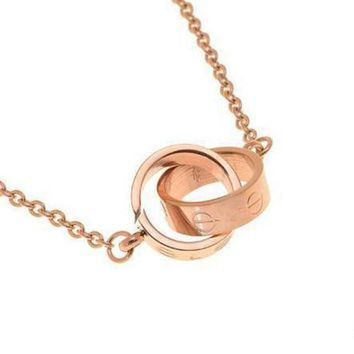 LMFUP0 Cartier Woman Fashion LOVE Plated Necklace For Best Gift-1