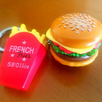Cheeseburger or French Fries Keychain!