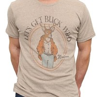 Junk Food Clothing - Men's Collections - JF Designs - Let's Get Buck Wild Vintage Triblend Tee