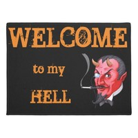satan welcome doormat