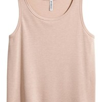 Wide vest top - Beige - Ladies | H&M GB