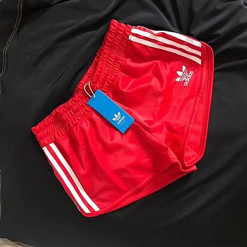 adidas originals women sports classic three stripe shorts-1