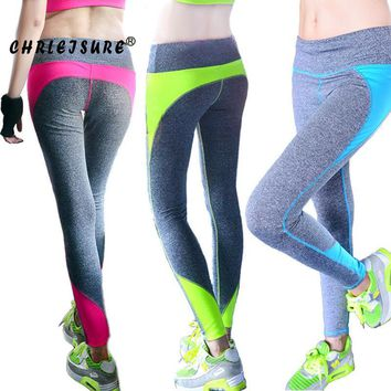 Womens Fashion Spandex Patchwork Push Up Hip Breathable Workout Leggings