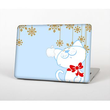 The Happy Winter Cartoon Cat Skin for the Apple MacBook Air 13""