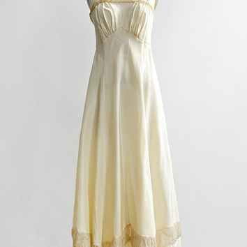 Ribboned Marzipan Gown