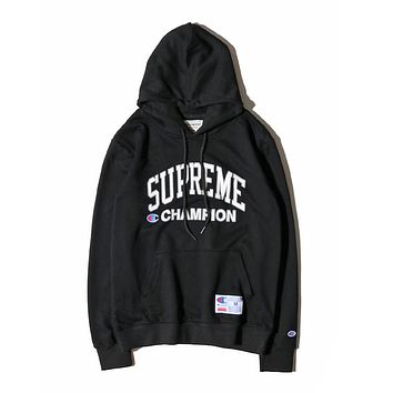Best Deal Online Men's Supreme Champion Fashion Hooded Sweatshirt Hoodie Black