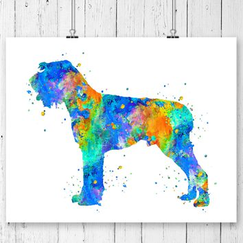 German Wirehaired Art Print - Unframed