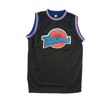 Michael Jordan Basketball Jersey # 23 Tune Squad As Worn In Space Jam Movie Player MJ Looney Tunes 90s Team Cosplay Costume Adult Black