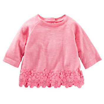 Baby Girl OshKosh B'gosh® Crocheted Slubbed Top