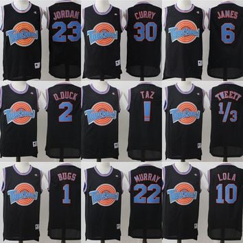 Best Deal Online Champion Space Jam Tune Squad Basketball Jerseys Black