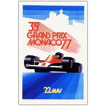 Monaco 1977 by George Ham-18x24 Canvas Art
