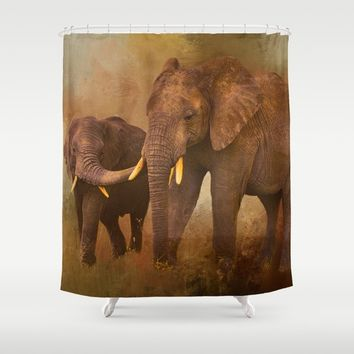 TRUST Shower Curtain by Theresa Campbell D'August Art