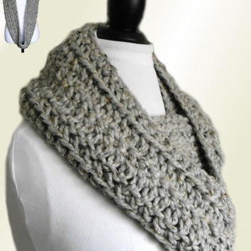 INFINITY SCARF Cowl Wool Knit Chunky Crochet Loop Circle Scarf 4 SIZES Choose Size & Color Teen Scarf Men Scarf and Women Scarves